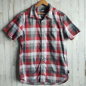 North Face Plaid Button Down Shirt